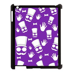 Gentleman Pattern   Purple And White Apple Ipad 3/4 Case (black) by Valentinaart