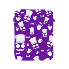 Gentleman Pattern   Purple And White Apple Ipad 2/3/4 Protective Soft Cases by Valentinaart