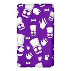 Gentleman Pattern   Purple And White Samsung Galaxy Tab 4 (8 ) Hardshell Case