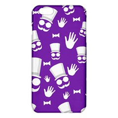 Gentleman Pattern   Purple And White Iphone 6 Plus/6s Plus Tpu Case by Valentinaart