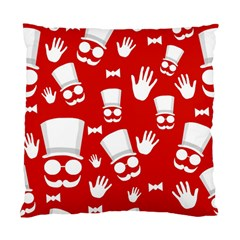 Gentlemen   Red And White Pattern Standard Cushion Case (one Side)