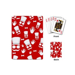 Gentlemen   Red And White Pattern Playing Cards (mini)