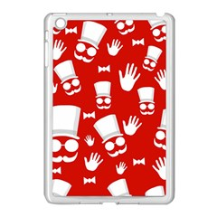 Gentlemen   Red And White Pattern Apple Ipad Mini Case (white) by Valentinaart