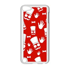 Gentlemen   Red And White Pattern Apple Ipod Touch 5 Case (white) by Valentinaart