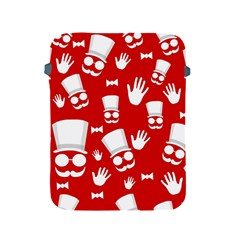 Gentlemen   Red And White Pattern Apple Ipad 2/3/4 Protective Soft Cases by Valentinaart