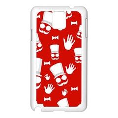 Gentlemen   Red And White Pattern Samsung Galaxy Note 3 N9005 Case (white) by Valentinaart