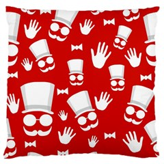 Gentlemen   Red And White Pattern Standard Flano Cushion Case (one Side) by Valentinaart