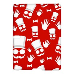 Gentlemen   Red And White Pattern Samsung Galaxy Tab S (10 5 ) Hardshell Case  by Valentinaart