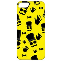 Gentlemen   Yellow Pattern Apple Iphone 5 Classic Hardshell Case