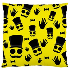 Gentlemen   Yellow Pattern Standard Flano Cushion Case (one Side) by Valentinaart