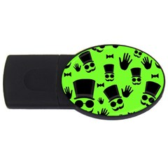 Gentleman   Green Pattern Usb Flash Drive Oval (4 Gb)