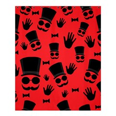 Gentlemen   Red Shower Curtain 60  X 72  (medium)  by Valentinaart