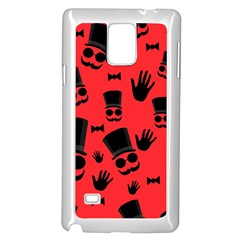 Gentlemen   Red Samsung Galaxy Note 4 Case (white)