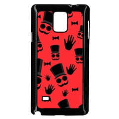 Gentlemen   Red Samsung Galaxy Note 4 Case (black) by Valentinaart