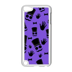 Gentleman Purple Pattern Apple Ipod Touch 5 Case (white) by Valentinaart