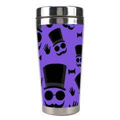 Gentleman Purple Pattern Stainless Steel Travel Tumblers by Valentinaart
