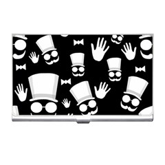 Gentleman   Black And White Pattern Business Card Holders by Valentinaart