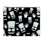 Gentleman - black and white pattern Cosmetic Bag (XL) Front