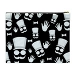 Gentleman - black and white pattern Cosmetic Bag (XL) Back