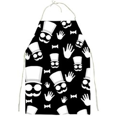 Gentleman   Black And White Pattern Full Print Aprons by Valentinaart