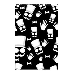 Gentleman   Black And White Pattern Shower Curtain 48  X 72  (small)  by Valentinaart
