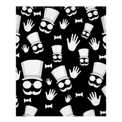 Gentleman   Black And White Pattern Shower Curtain 60  X 72  (medium)  by Valentinaart