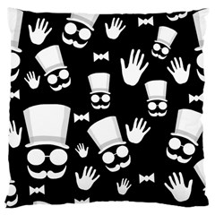 Gentleman   Black And White Pattern Large Cushion Case (two Sides) by Valentinaart