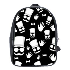 Gentleman   Black And White Pattern School Bags (xl)