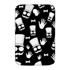 Gentleman   Black And White Pattern Samsung Galaxy Note 8 0 N5100 Hardshell Case  by Valentinaart