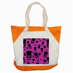 Gentleman   Magenta Pattern Accent Tote Bag by Valentinaart