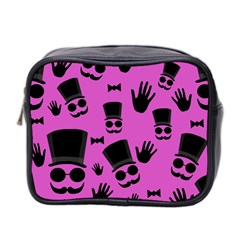 Gentleman   Magenta Pattern Mini Toiletries Bag 2 Side by Valentinaart