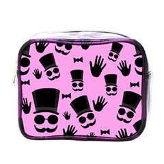 Gentleman   Pink Pattern Mini Toiletries Bags by Valentinaart