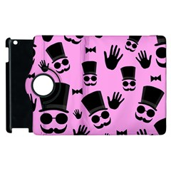Gentleman   Pink Pattern Apple Ipad 2 Flip 360 Case by Valentinaart