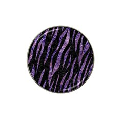 Skin3 Black Marble & Purple Marble Hat Clip Ball Marker (10 Pack) by trendistuff