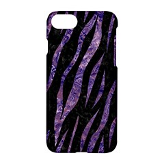 Skin3 Black Marble & Purple Marble Apple Iphone 7 Hardshell Case by trendistuff