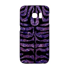 Skin2 Black Marble & Purple Marble (r) Samsung Galaxy S6 Edge Hardshell Case by trendistuff