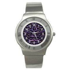Skin2 Black Marble & Purple Marble Stainless Steel Watch by trendistuff