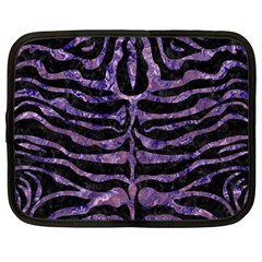 Skin2 Black Marble & Purple Marble Netbook Case (large) by trendistuff