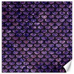 Scales3 Black Marble & Purple Marble (r) Canvas 12  X 12  by trendistuff