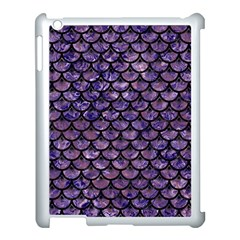 Scales3 Black Marble & Purple Marble (r) Apple Ipad 3/4 Case (white) by trendistuff