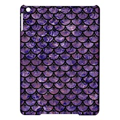 Scales3 Black Marble & Purple Marble (r) Apple Ipad Air Hardshell Case by trendistuff