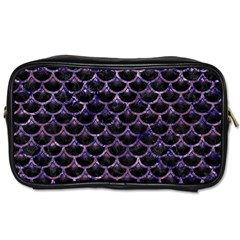 Scales3 Black Marble & Purple Marble Toiletries Bag (two Sides) by trendistuff