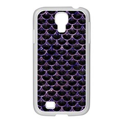 Scales3 Black Marble & Purple Marble Samsung Galaxy S4 I9500/ I9505 Case (white) by trendistuff