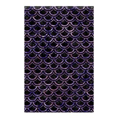 Scales2 Black Marble & Purple Marble Shower Curtain 48  X 72  (small) by trendistuff