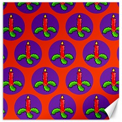 Christmas Candles Seamless Pattern Canvas 20  X 20