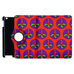 Christmas Candles Seamless Pattern Apple Ipad 2 Flip 360 Case