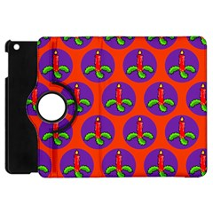 Christmas Candles Seamless Pattern Apple Ipad Mini Flip 360 Case