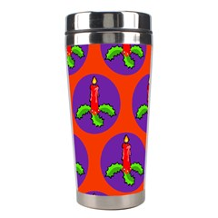 Christmas Candles Seamless Pattern Stainless Steel Travel Tumblers by Amaryn4rt