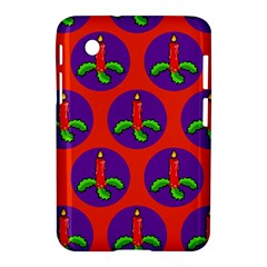 Christmas Candles Seamless Pattern Samsung Galaxy Tab 2 (7 ) P3100 Hardshell Case
