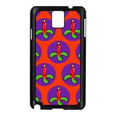 Christmas Candles Seamless Pattern Samsung Galaxy Note 3 N9005 Case (black)
